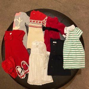 Baby Girl Dress Bundle (7 + jacket & shoes)